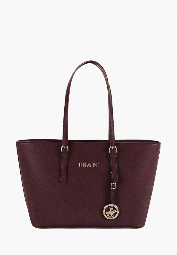 женская сумка beverly hills polo club, бордовая