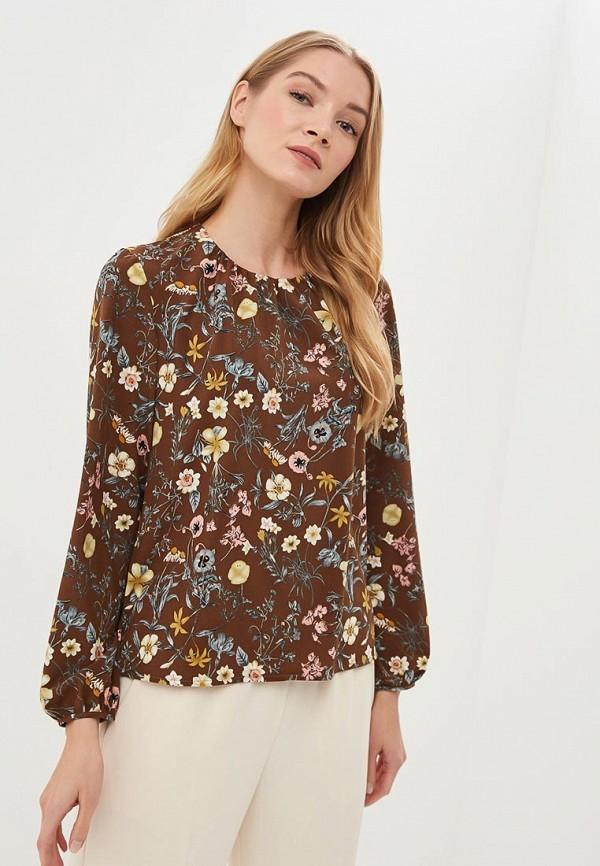 женская блузка froggi, коричневая