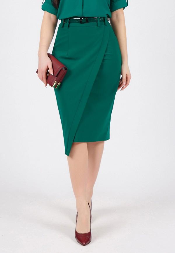 женская прямые юбка grey cat, зеленая