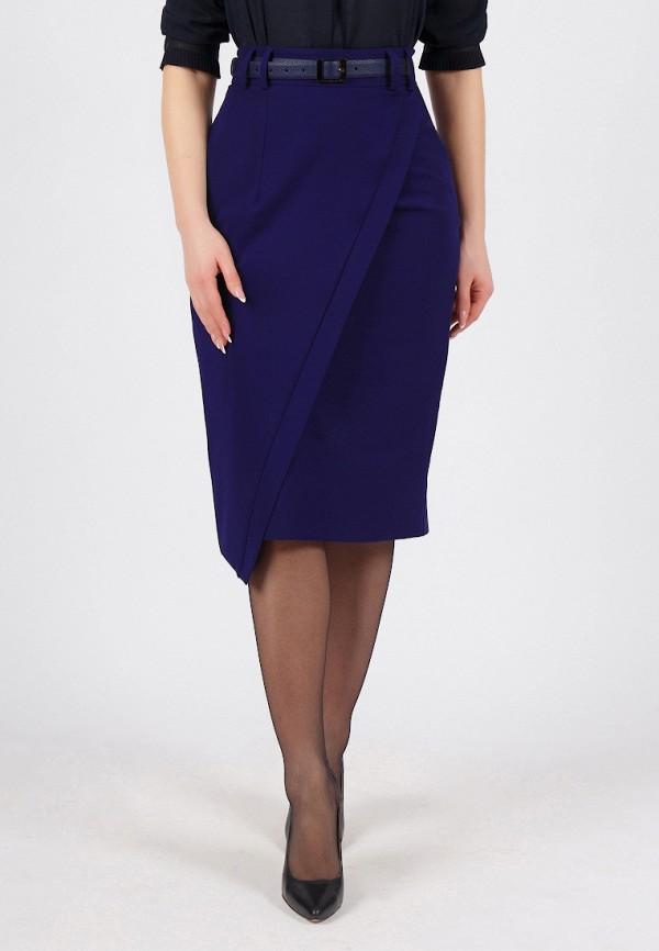 женская прямые юбка grey cat, синяя