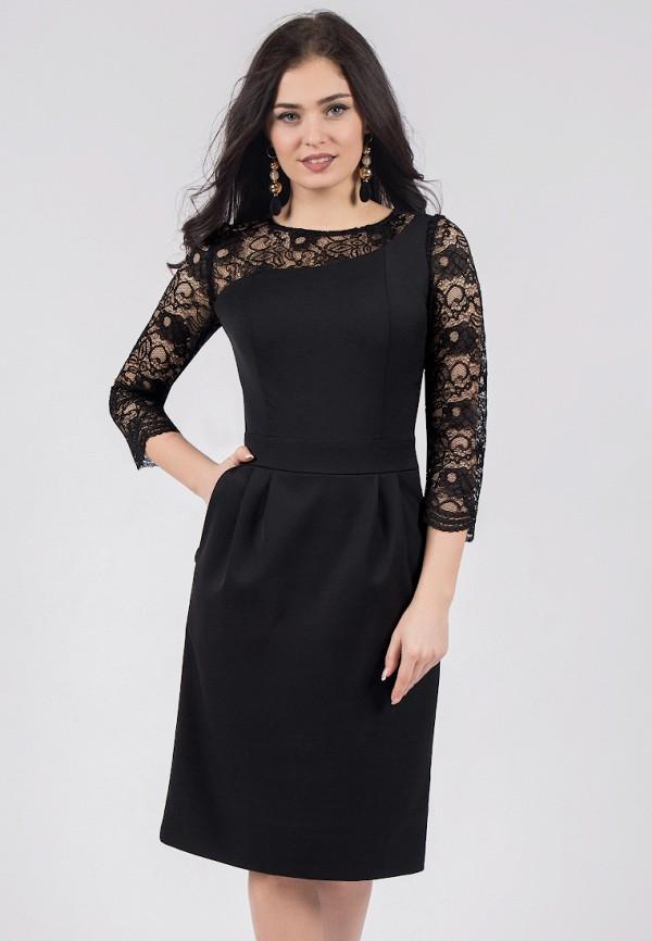 Купить Платье Grey Cat черного цвета
