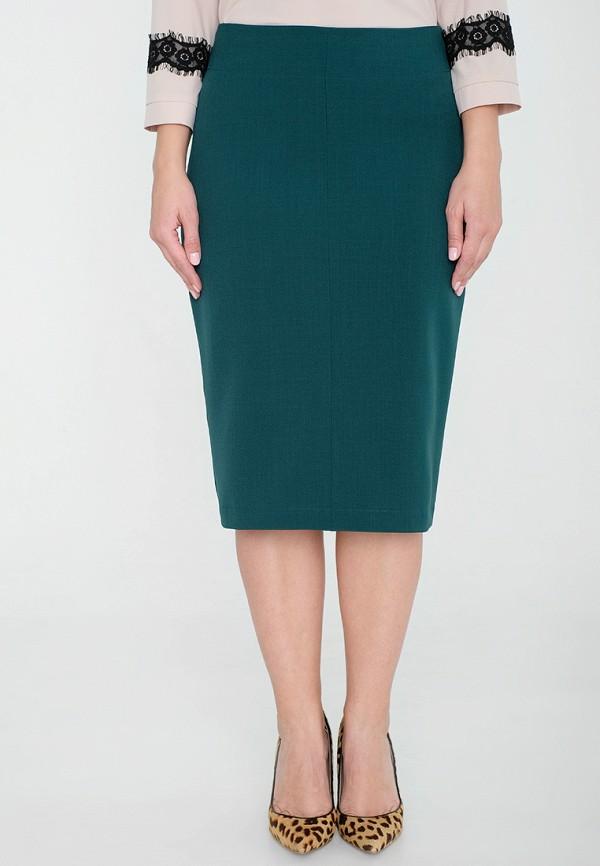 женская прямые юбка eliseeva olesya, зеленая