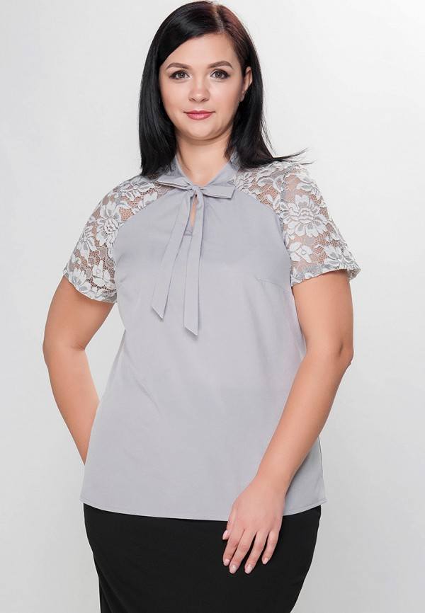 женская блузка limonti, серая