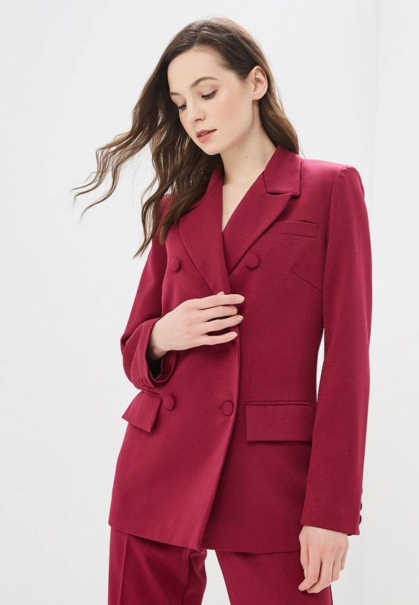 женский пиджак elena kulikova, бордовый