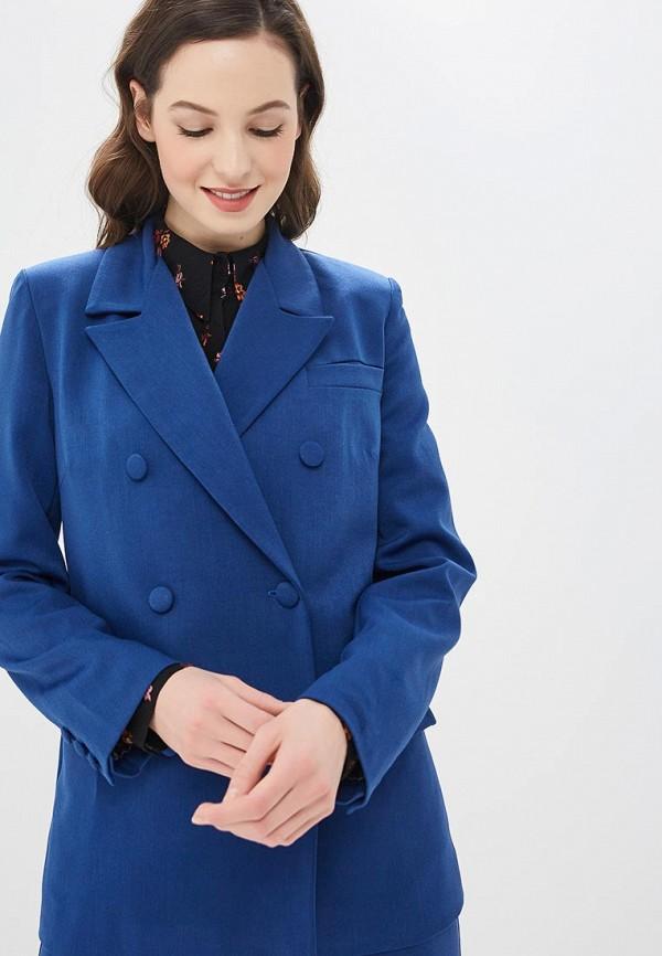 женский пиджак elena kulikova, синий