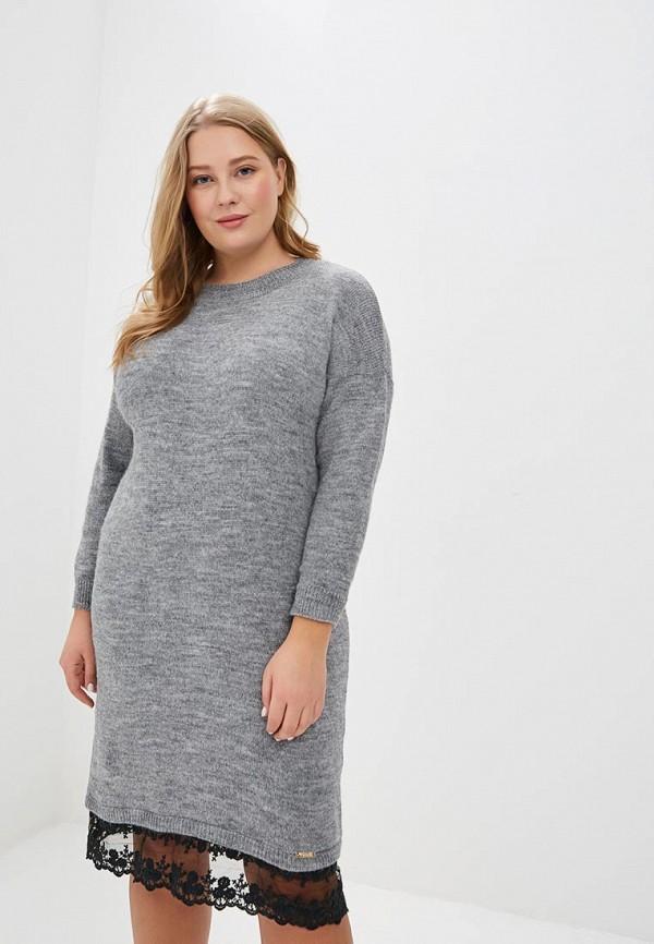 женское повседневные платье wisell, серое