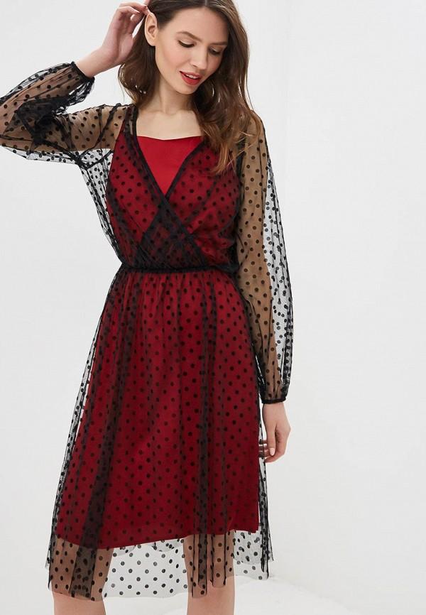 женское платье мини модный дом виктории тишиной, черное