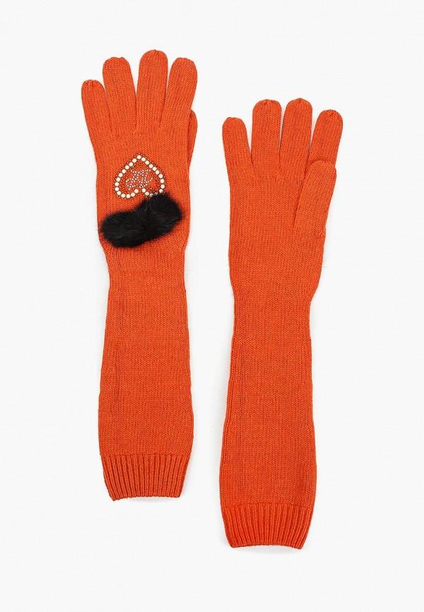 женские перчатки katomi, оранжевые