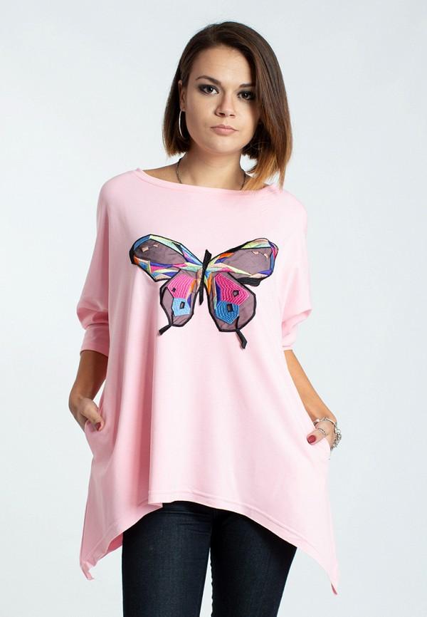 женская туника modna anka, розовая