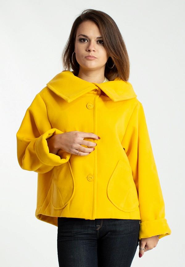 женское пальто modna anka, желтое