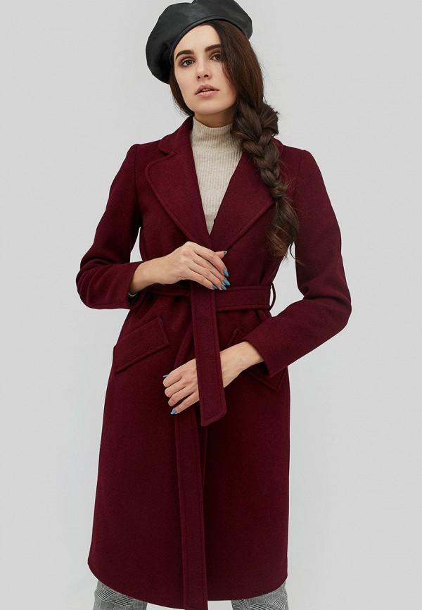 женское пальто cardo, бордовое