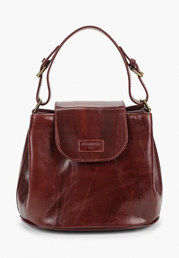 женская сумка alexander tsiselsky, бордовая