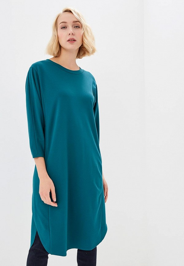 женское повседневные платье bonali, бирюзовое