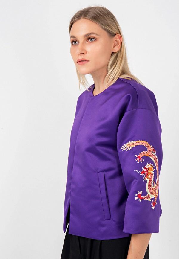 женский жакет crocodile coup, фиолетовый