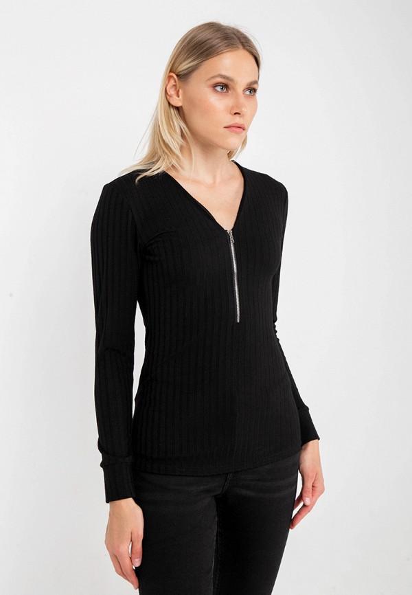 женский пуловер crocodile coup, черный
