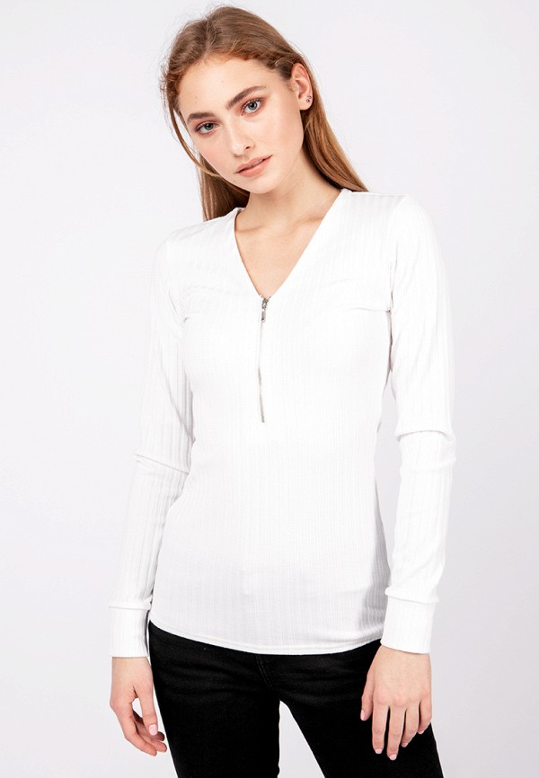 женский пуловер crocodile coup, белый