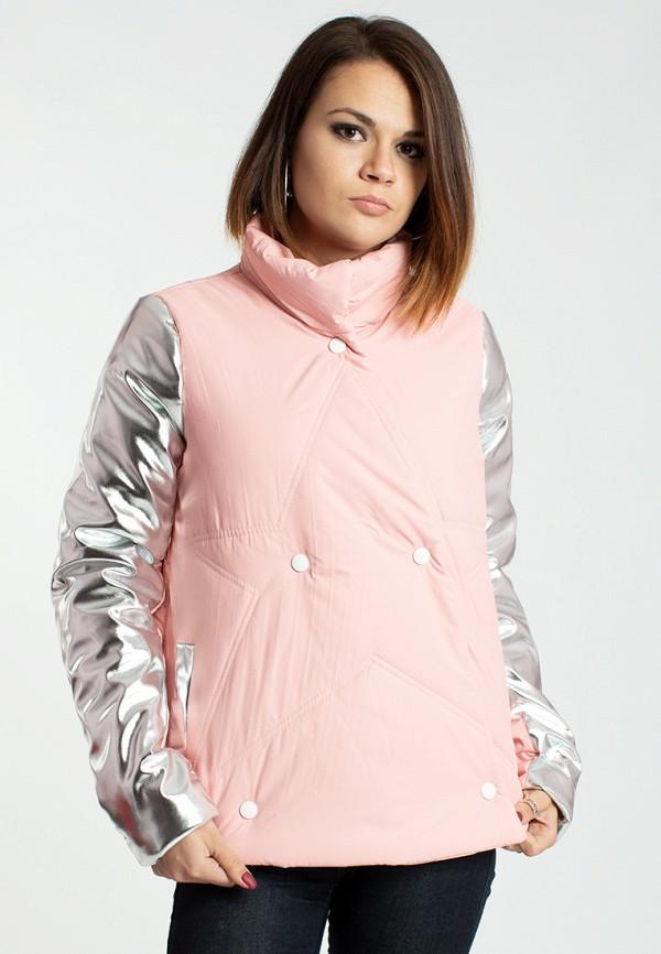 женская куртка modna anka, розовая