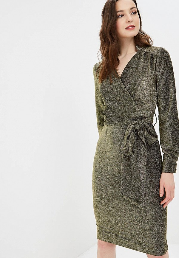 женское повседневные платье bezko, золотое