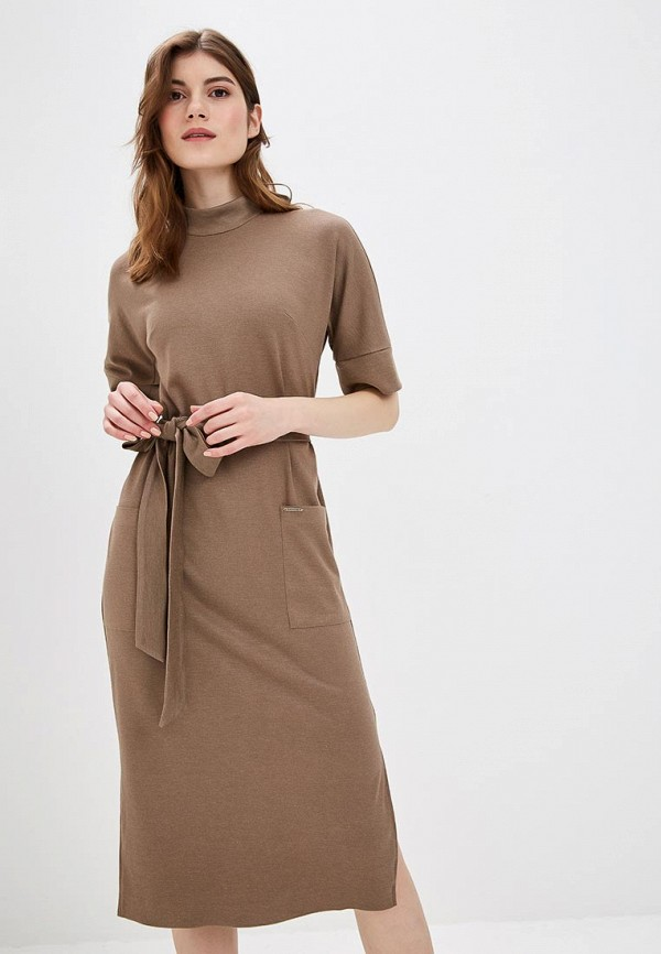 женское повседневные платье bezko, коричневое