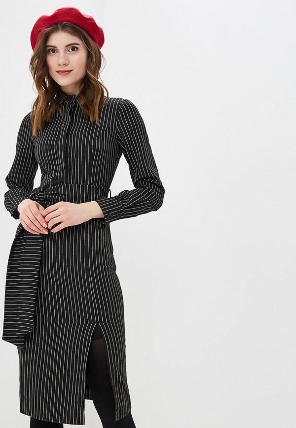 женское платье-футляр bezko, черное