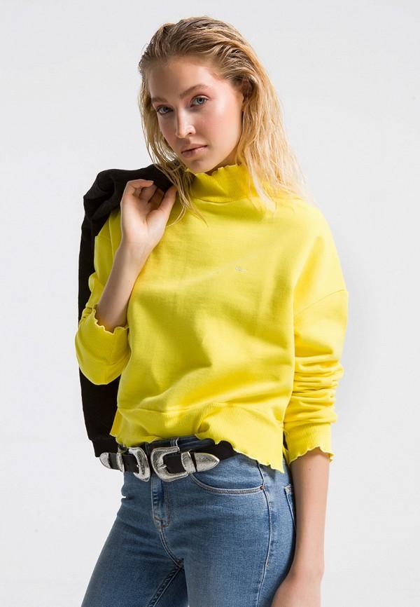 женская водолазка ltb, желтая