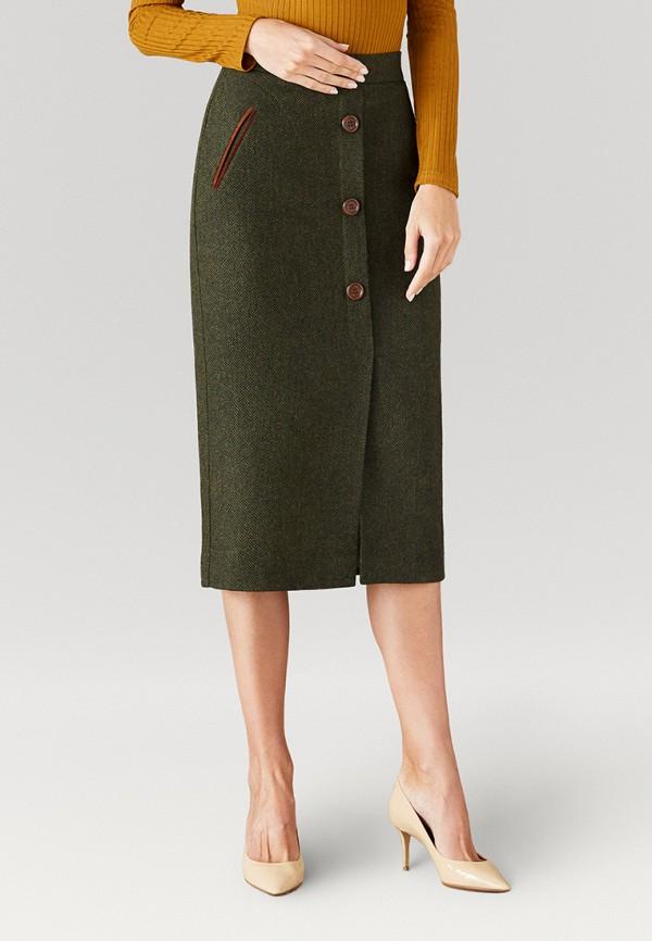 женская прямые юбка ummami, зеленая