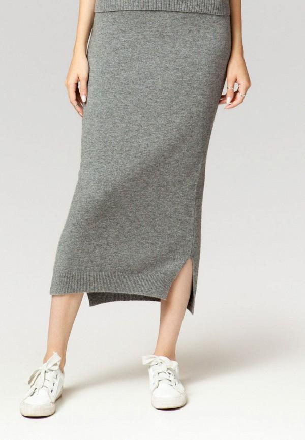 женская прямые юбка ummami, серая
