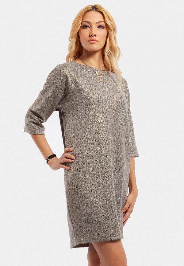 женское повседневные платье vladi collection, серое