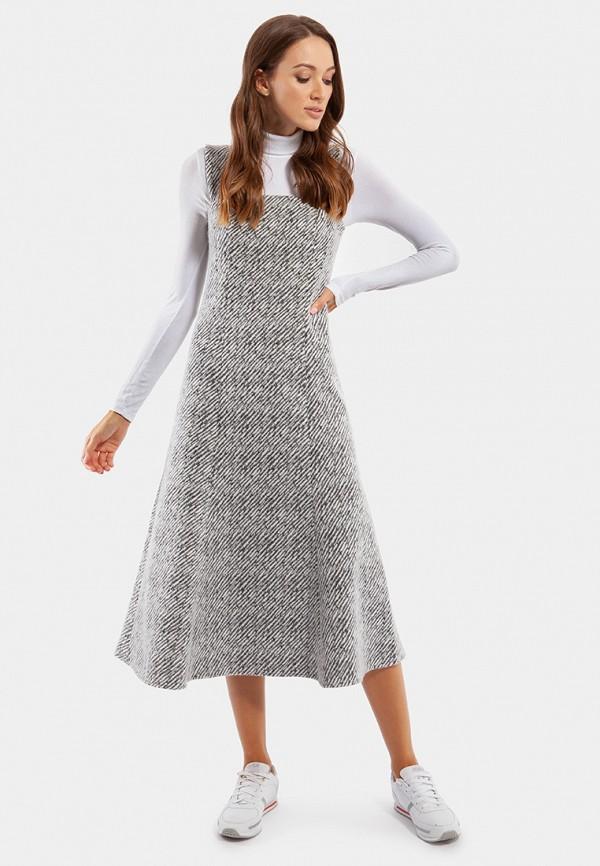 женский сарафан миди vladi collection, серый