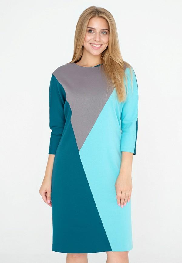 женское платье миди eliseeva olesya, разноцветное