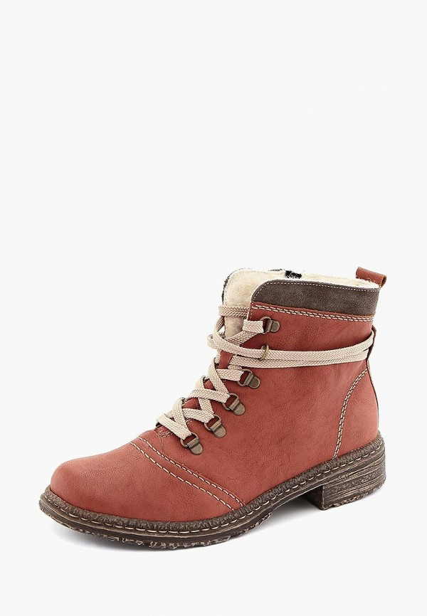 женские ботинки rieker, коричневые