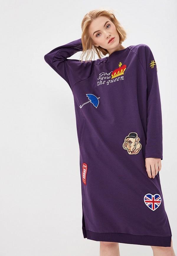 женское платье pavel yerokin, фиолетовое