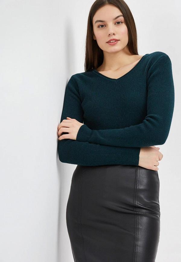 женский пуловер free age, зеленый