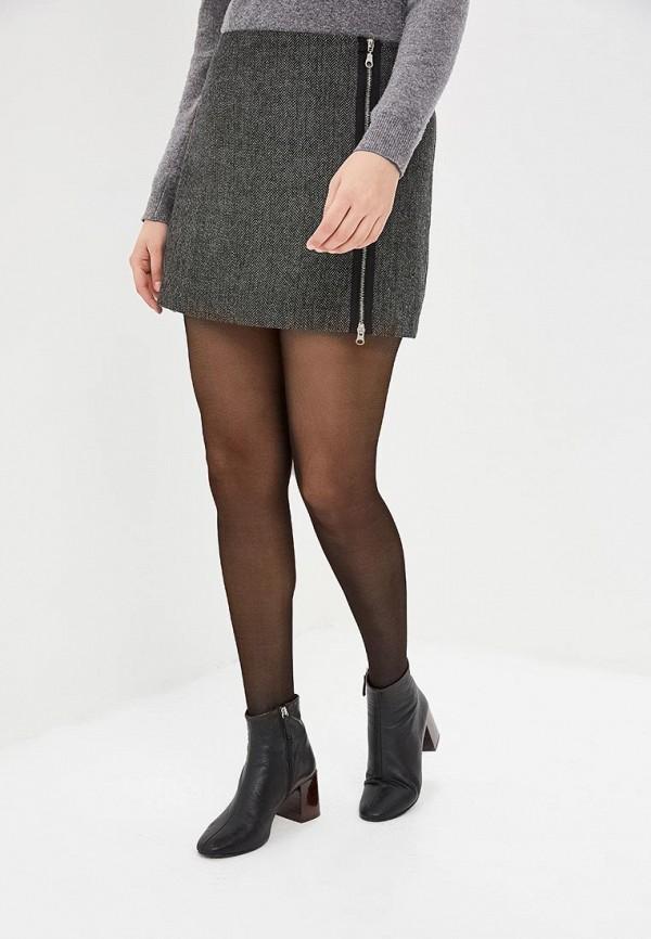 женская прямые юбка viserdi, серая
