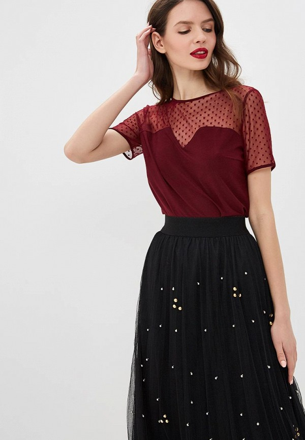 женская блузка argent, бордовая