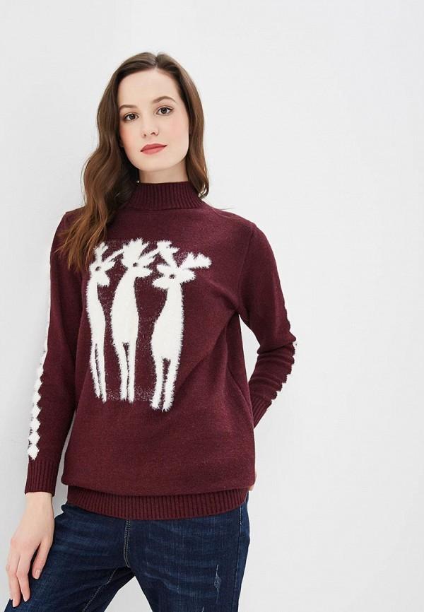 женский свитер marissimo, бордовый
