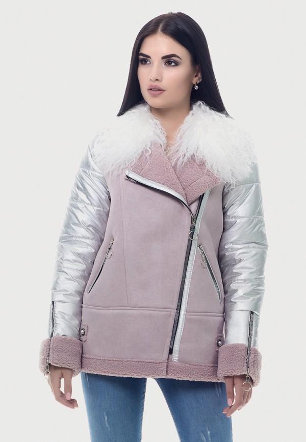 женская куртка vicco, розовая