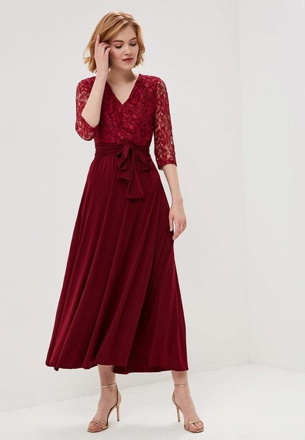 женское вечерние платье alina assi, бордовое