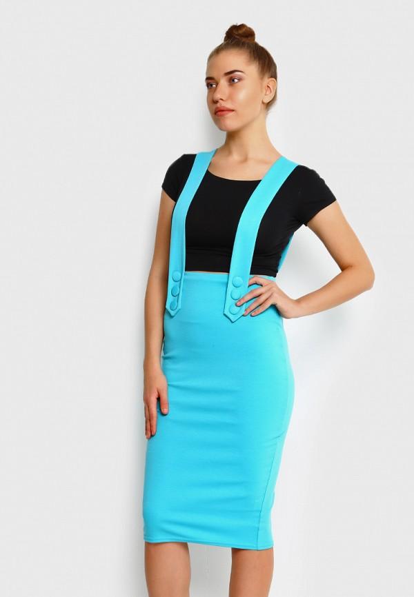 женская зауженные юбка malaeva, голубая