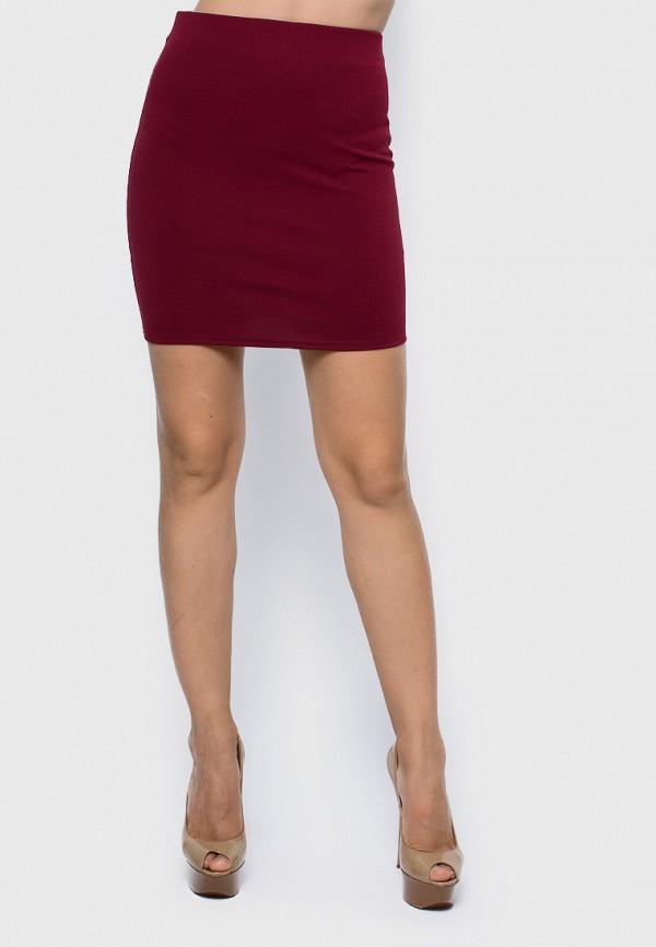 женская зауженные юбка malaeva, бордовая