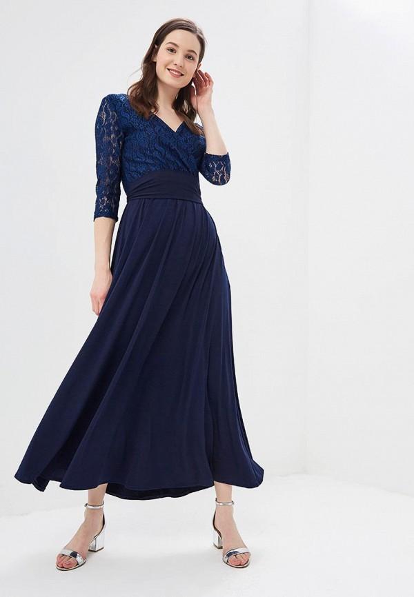 женское вечерние платье alina assi, синее