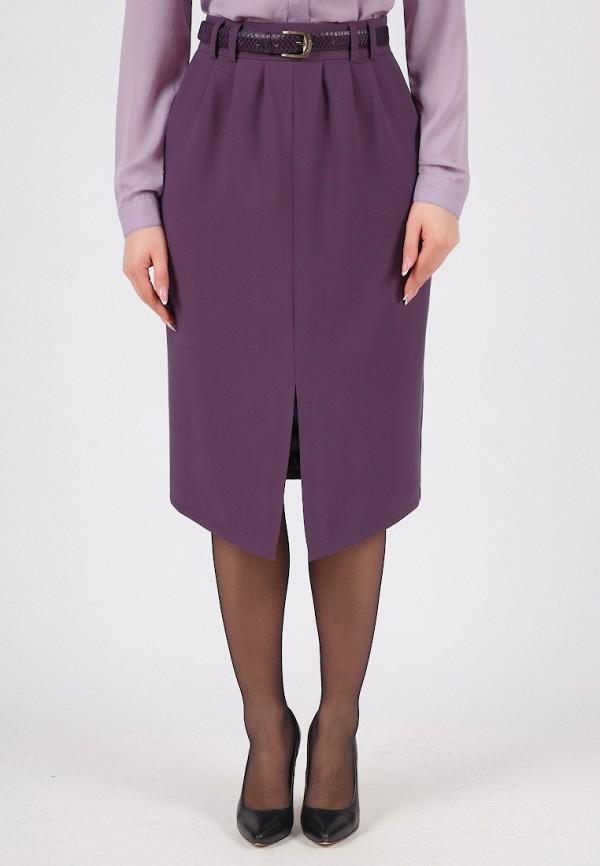 женская прямые юбка grey cat, фиолетовая