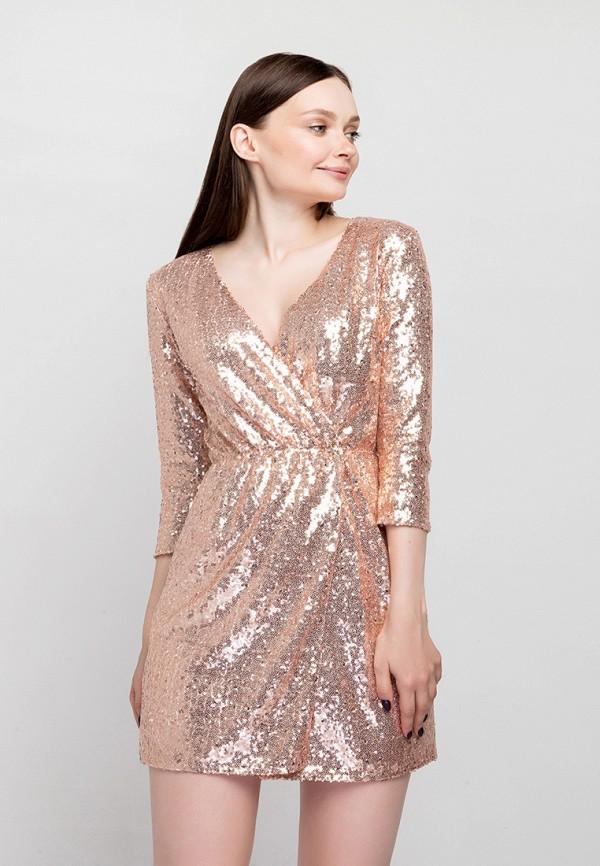 женское платье fors, золотое