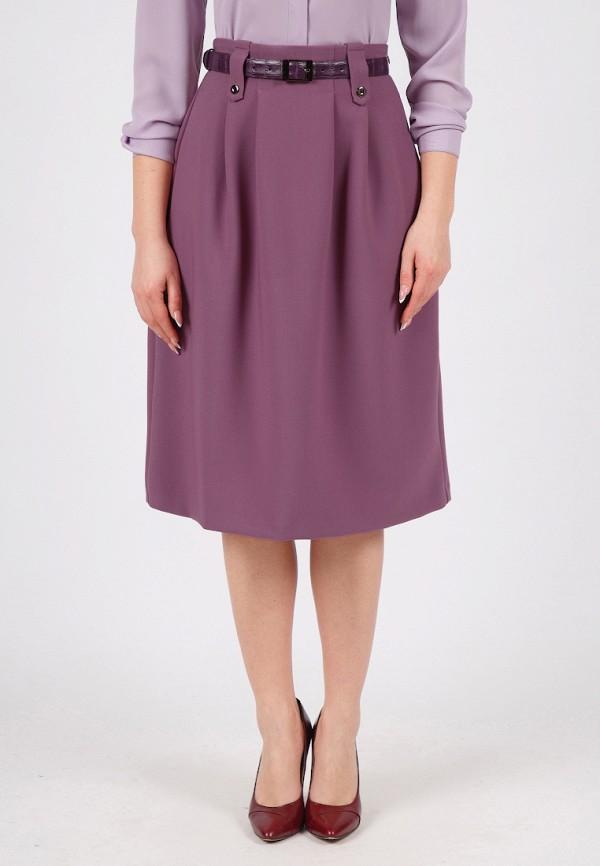 женская юбка grey cat, фиолетовая