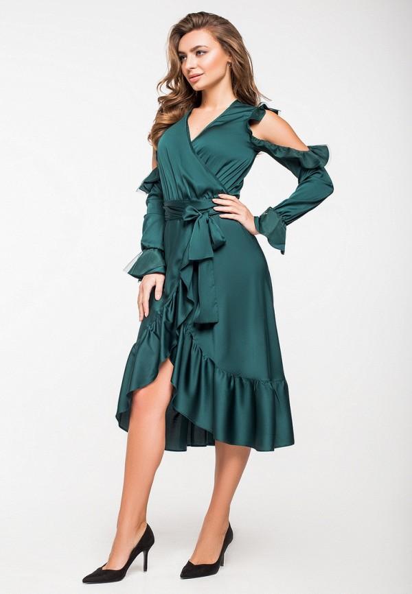 Купить Платье itelle, mp002xw1hpeg, зеленый, Осень-зима 2018/2019