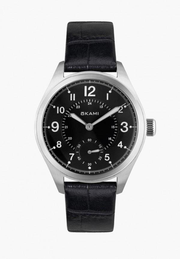 женские часы okami, черные