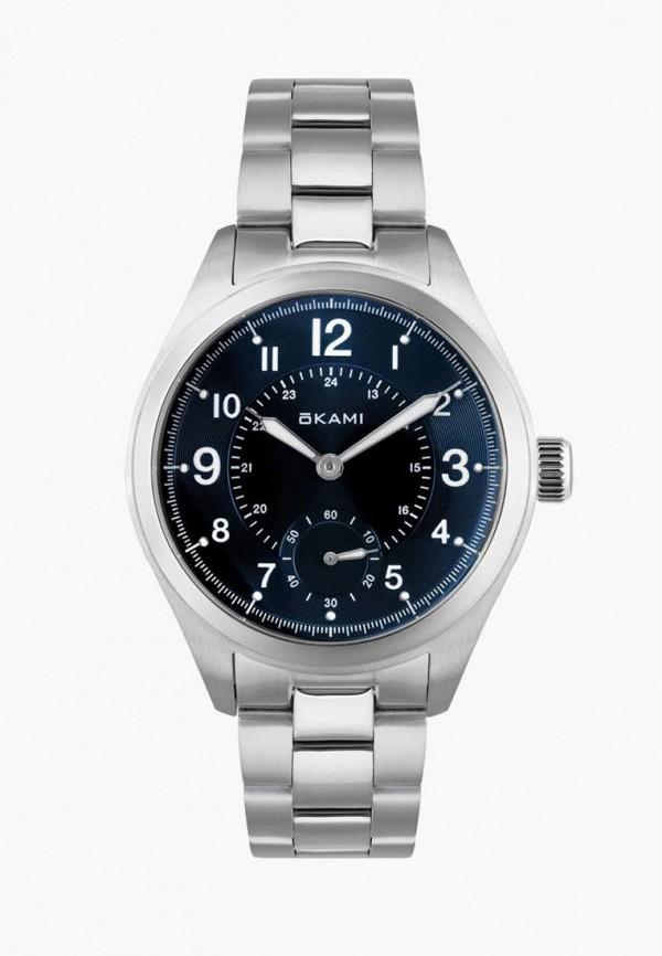 женские часы okami, серебряные