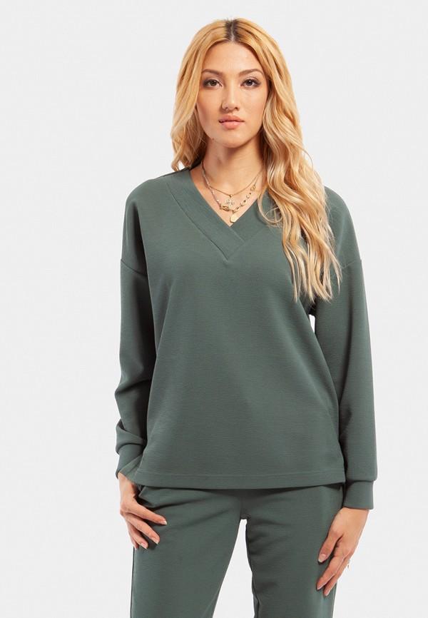 женский свитшот vladi collection, зеленый