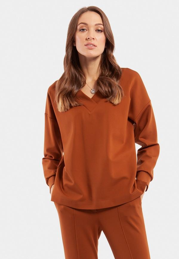 женский свитшот vladi collection, коричневый
