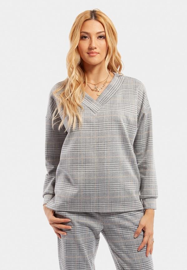 женский свитшот vladi collection, серый